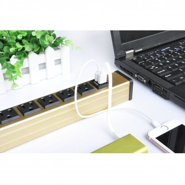 Multiple Outlets Power Bar With Usb Ports For Home / Office , Electrical Extension Sockets