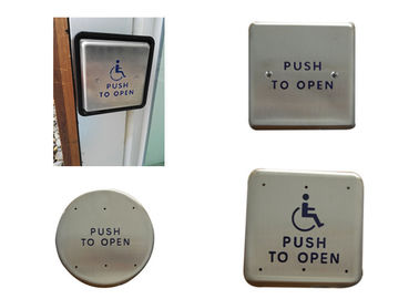 Stainless Steel Push To Open Switch , Handicap Push To Open Button For Door