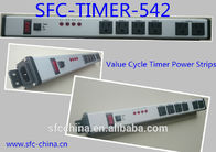 China Value Cycle Timer Electrical Outlet , Metal Power Strip With Timer / On Off Switch company
