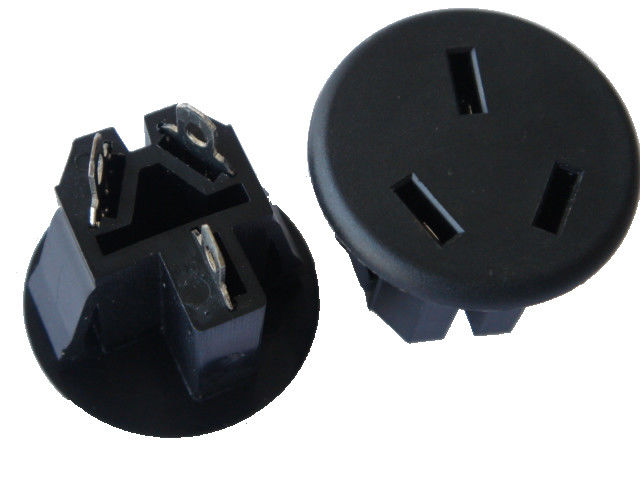 Round Australian AC Electric Power Sockets , Electrical Wall Plugs For Office / Home