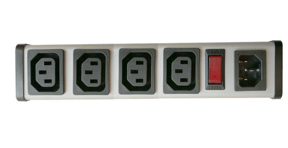 4 Outlet 15 Amp PDU Power Distribution Unit With Overload Protection ...