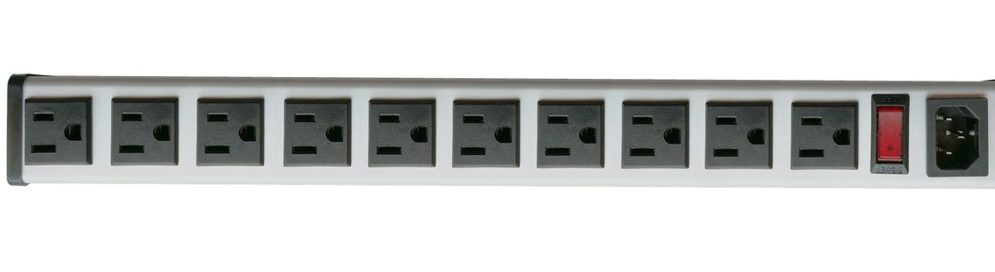 5 To 14 15 Amp Metal Hardwired Strip With 10 Outlets No Cord And Plug
