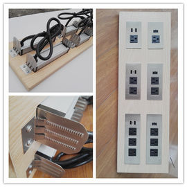 China Multifunctional Furniture Power Outlet , Universal AC Desktop Electrical Outlet With USB Port factory