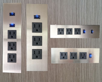 3 Outlets Furniture Power Strip , Embedded Tabletop Desktop Power Sockets