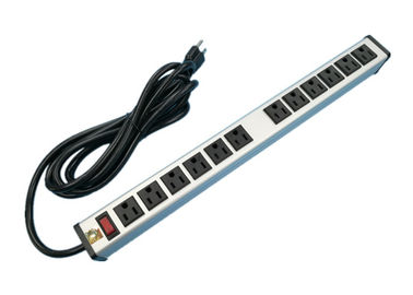 12 Plug Multi Outlet Power Strip Surge Protector , 12 Socket Extension Lead UL Listed