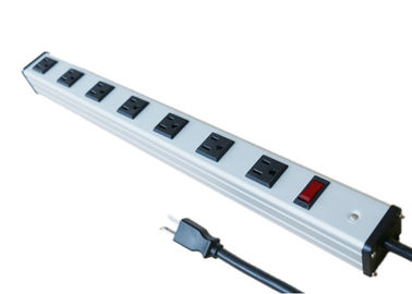 China Multi Plug 7 Way Power Outlet Bar With Surge Protection Aluminium Alloy Shell factory
