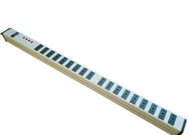 China Italy 18 Way Industrial European Power Strip Heavy Duty With Surge Protection factory