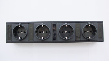 China German 4 Outlets European Power Strip Bar With Line Attached Connector IEC 320 factory