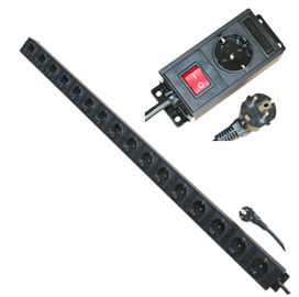 China Multi Plug 16 Way European Power Strip For Network / Laboratory / Factory 250V 16A factory