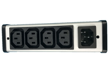 China Hardwired Plug In PDU Power Distribution Unit 4 Outlet With IEC Connector Low Profile factory