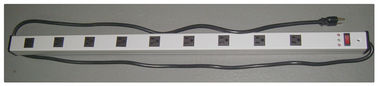 "China 15A 9 Outlet Slim Plug Power Strip , 36 "" Electrical Power Bar With Surge Protection factory"