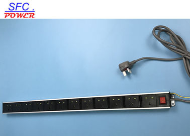 China Standard Ground 12 UK Outlet European Power Strip Exterier Earth Wire With Switch factory